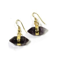 Amethyst Double Terminated Gemstone Earrings