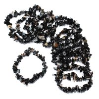 Black Onyx Gemstone Chip Bracelet