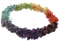 Chakra Gemstone Fused Chip Bracelet