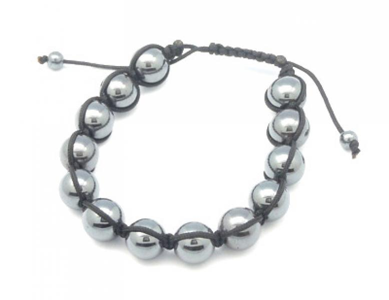Hematite Adjustable Friendship Bracelet