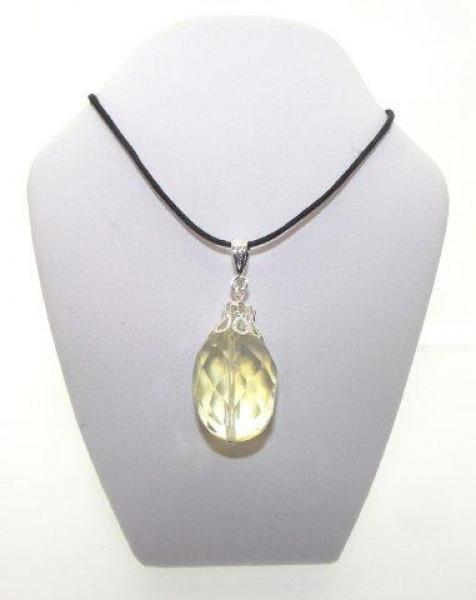 Pineapple Quartz Teardrop Pendant