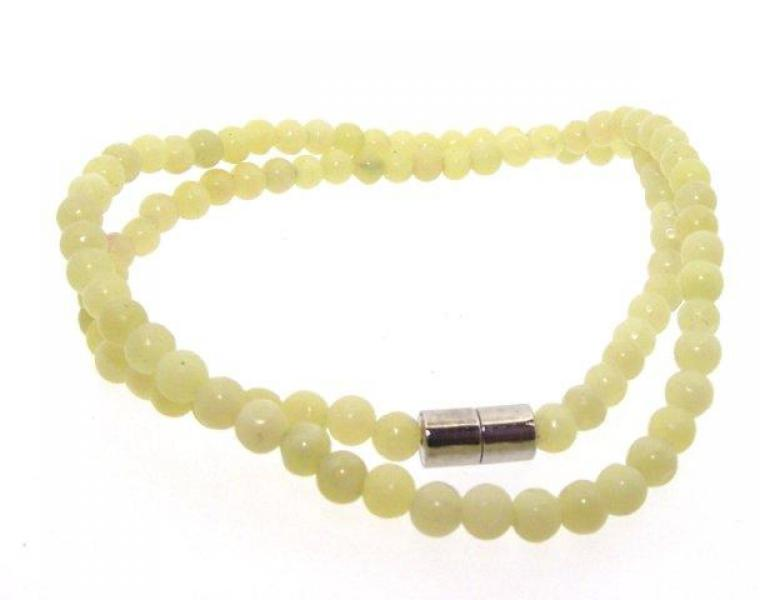 Sea Green Jade 16 Inch Necklace with Magnetic Clasp