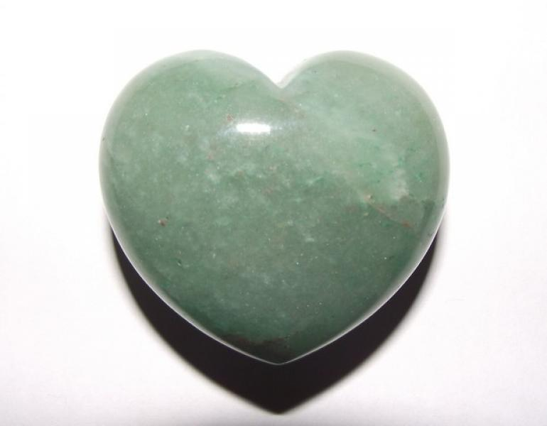 Green Aventurine Gemstone Crystal Heart - Large
