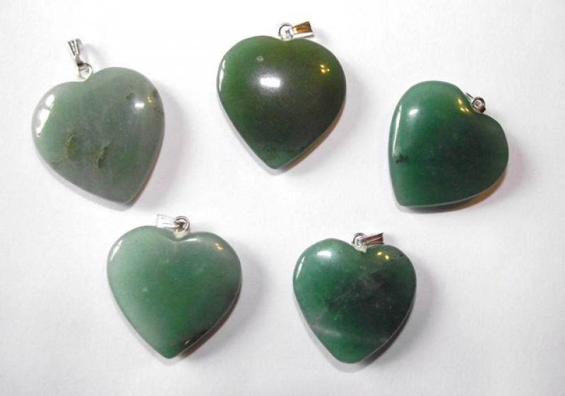 Green Aventurine Gemstone Heart Pendant