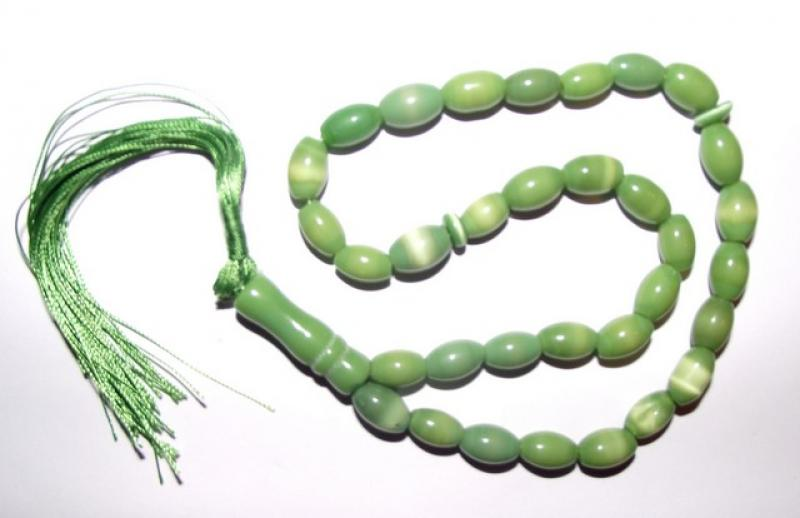 Green Cats Eye Prayer Beads